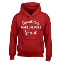 Grandmas make life more special children's red hoodie 12-14 Years