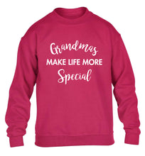 Grandmas make life more special children's pink sweater 12-14 Years