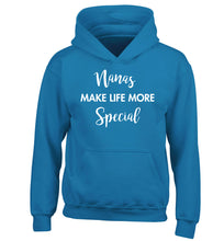 Nanas make life more special children's blue hoodie 12-14 Years