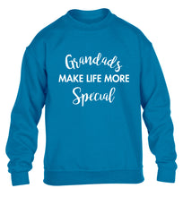 Grandads make life more special children's blue sweater 12-14 Years