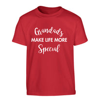 Grandads make life more special Children's red Tshirt 12-14 Years