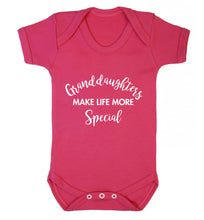 Granddaughters make life more special Baby Vest dark pink 18-24 months