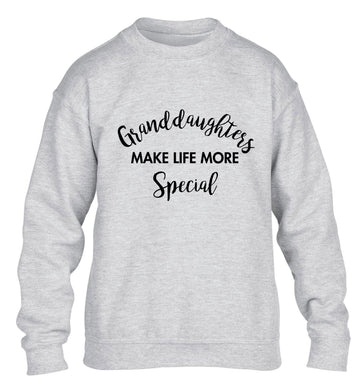 Granddaughters make life more special children's grey sweater 12-14 Years