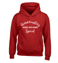 Granddaughters make life more special children's red hoodie 12-14 Years