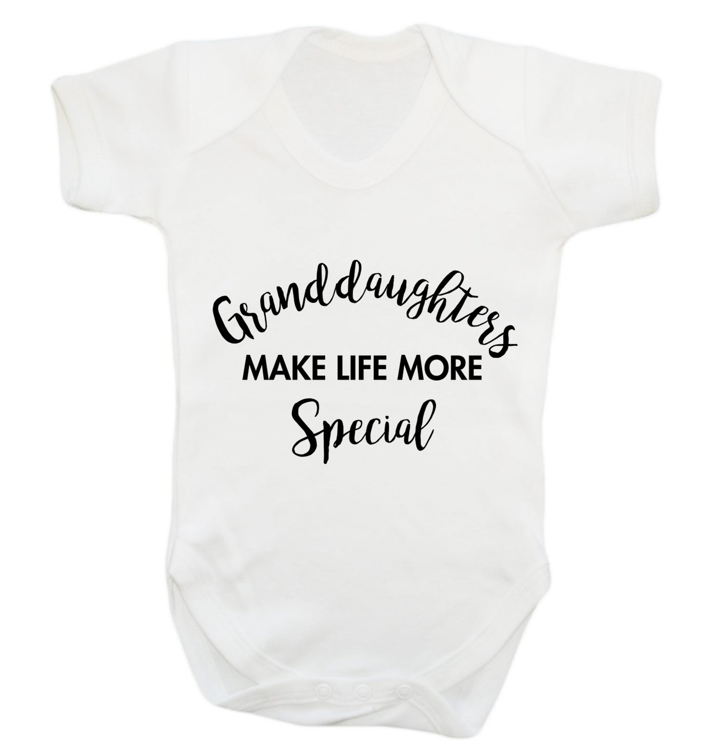 Granddaughters make life more special Baby Vest white 18-24 months