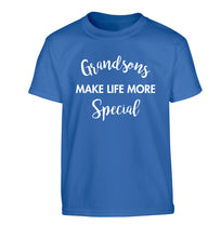 Grandsons make life more special Children's blue Tshirt 12-14 Years
