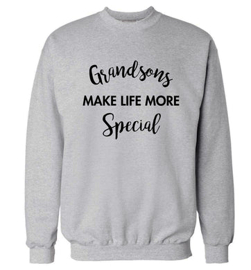 Grandsons make life more special Adult's unisex grey Sweater 2XL