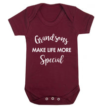 Grandsons make life more special Baby Vest maroon 18-24 months