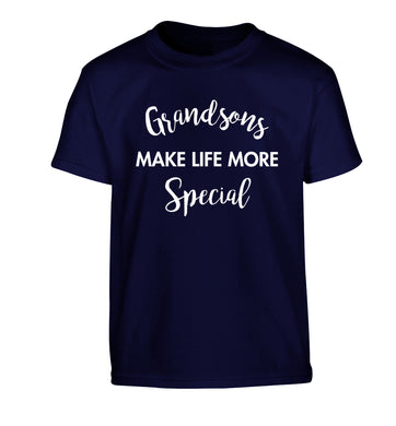 Grandsons make life more special Children's navy Tshirt 12-14 Years