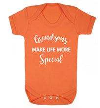 Grandsons make life more special Baby Vest orange 18-24 months