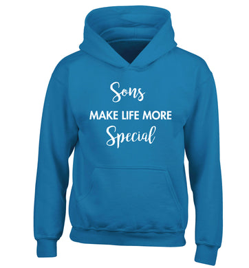 Daughters make life more special children's blue hoodie 12-14 Years