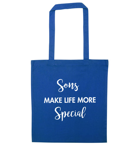 Daughters make life more special blue tote bag