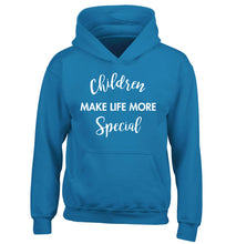 Children make life more special children's blue hoodie 12-14 Years