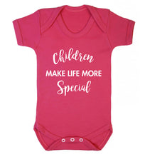 Children make life more special Baby Vest dark pink 18-24 months