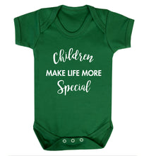 Children make life more special Baby Vest green 18-24 months