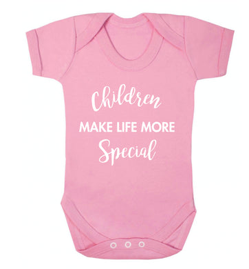 Children make life more special Baby Vest pale pink 18-24 months