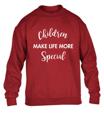 Children make life more special children's grey sweater 12-14 Years