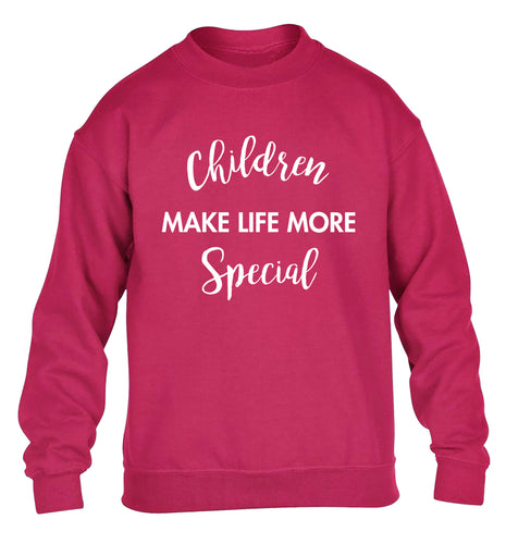Children make life more special children's pink sweater 12-14 Years
