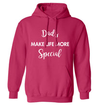 Dads make life more special adults unisex pink hoodie 2XL