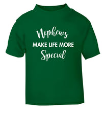 Nephews make life more special green Baby Toddler Tshirt 2 Years
