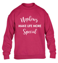 Nephews make life more special children's pink sweater 12-14 Years