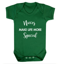 Nieces make life more special Baby Vest green 18-24 months