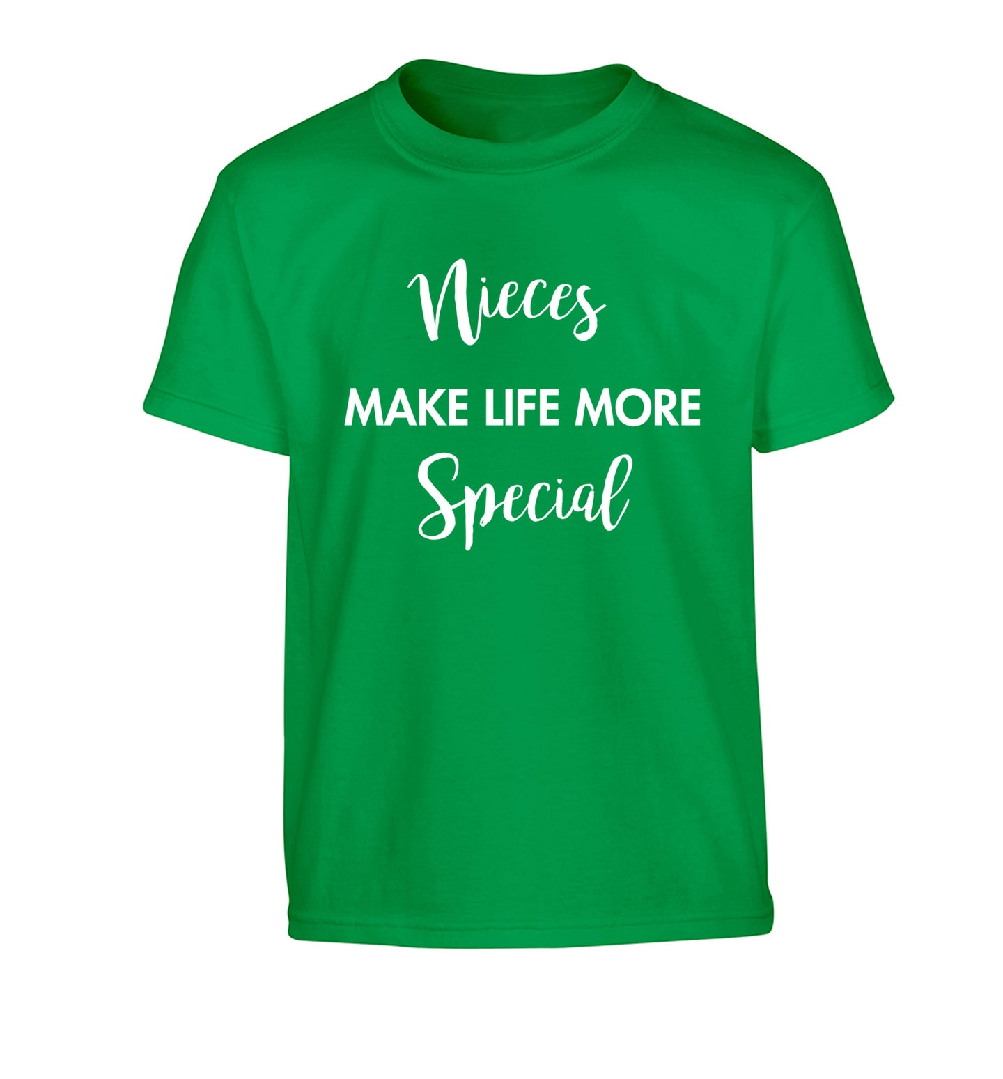Nieces make life more special Children's green Tshirt 12-14 Years