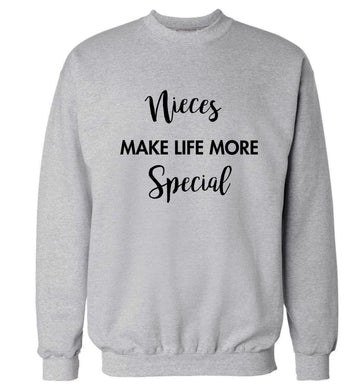 Nieces make life more special Adult's unisex grey Sweater 2XL