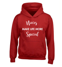 Nieces make life more special children's red hoodie 12-14 Years
