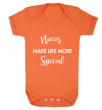 Nieces make life more special Baby Vest orange 18-24 months