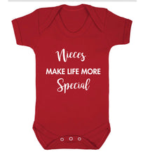 Nieces make life more special Baby Vest red 18-24 months
