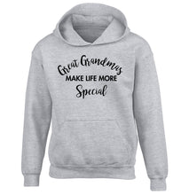 Great Grandmas make life more special children's grey hoodie 12-14 Years