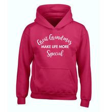 Great Grandmas make life more special children's pink hoodie 12-14 Years