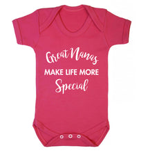 Great nanas make life more special Baby Vest dark pink 18-24 months