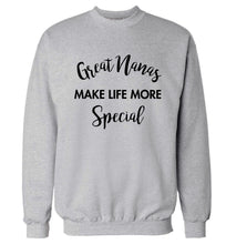Great nanas make life more special Adult's unisex grey Sweater 2XL