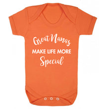 Great nanas make life more special Baby Vest orange 18-24 months