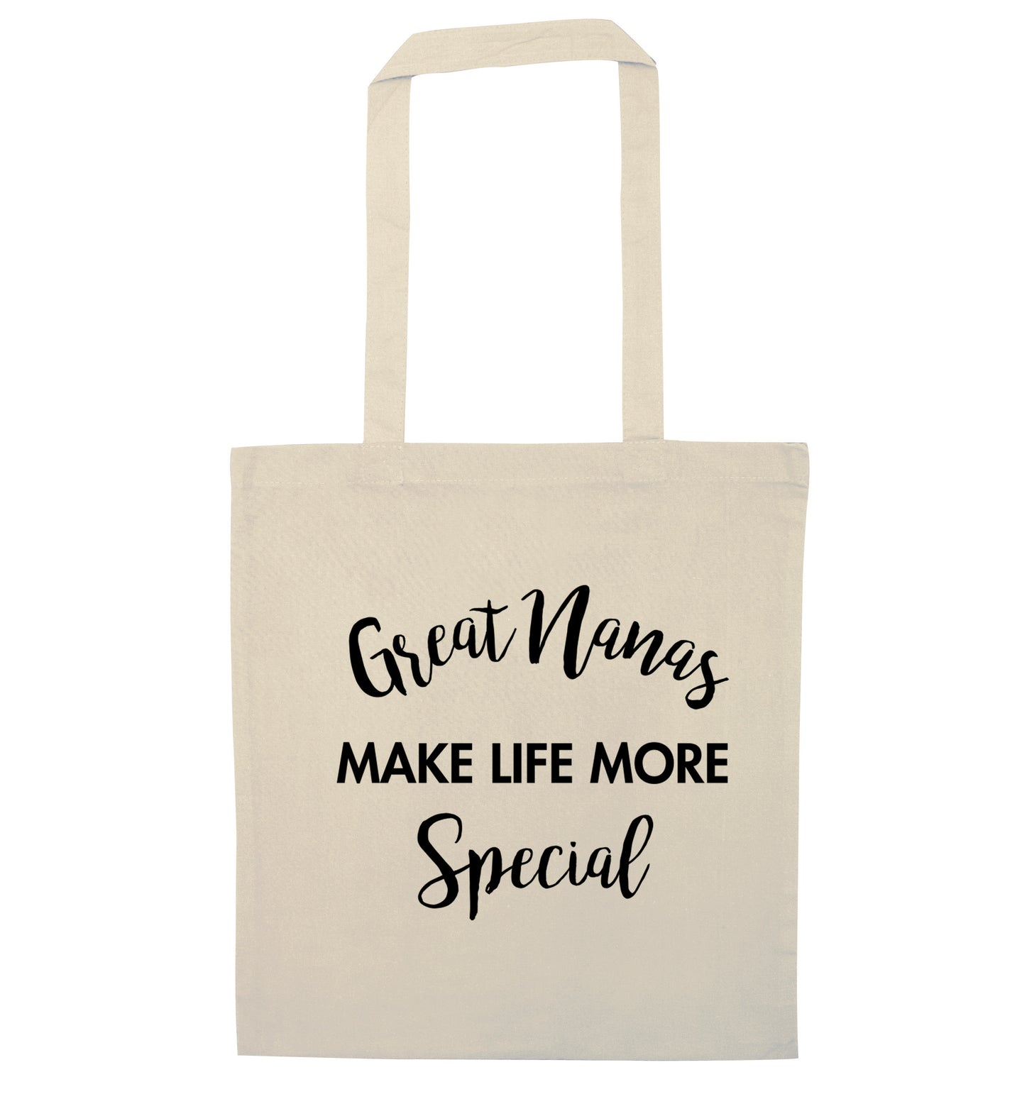 Great nanas make life more special natural tote bag