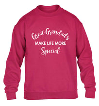 Great Grandads make life more special children's pink sweater 12-14 Years