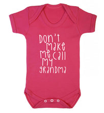 Don't make me call my grandma Baby Vest dark pink 18-24 months
