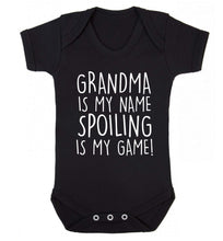 Grandma is my name, spoiling is my game Baby Vest black 18-24 months