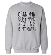 Grandma is my name, spoiling is my game Adult's unisex grey Sweater 2XL
