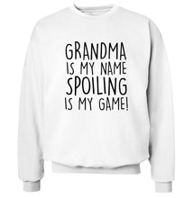 Grandma is my name, spoiling is my game Adult's unisex white Sweater 2XL