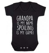 Grandpa is my name, spoiling is my game Baby Vest black 18-24 months