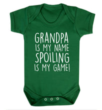Grandpa is my name, spoiling is my game Baby Vest green 18-24 months