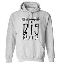 Only child big brother adults unisex grey hoodie 2XL