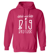 Only child big brother adults unisex pink hoodie 2XL