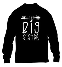 Only child big sister children's black sweater 12-14 Years