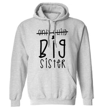 Only child big sister adults unisex grey hoodie 2XL