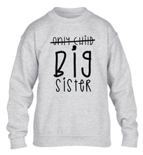 Only child big sister children's grey sweater 12-14 Years