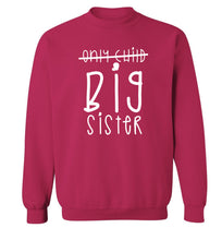 Only child big sister Adult's unisex pink Sweater 2XL